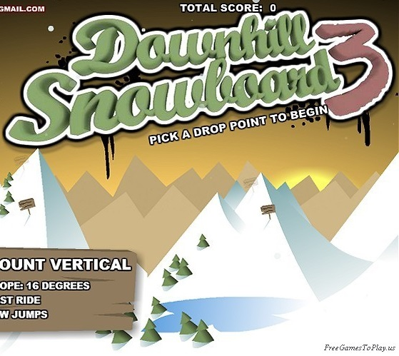 Play Downhill Snowboard 3 Game