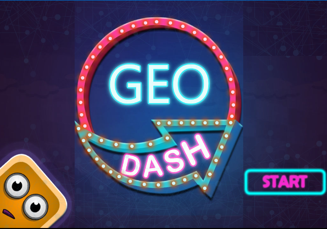 Play Geo Dash Neon Game