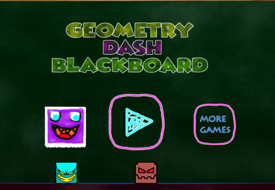 Play Geometry Dash Blackboard Game