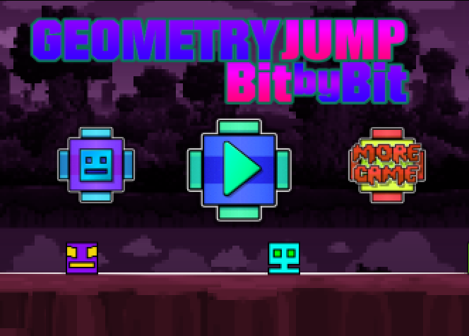 Play Geometry Jump: Bit by Bit Game