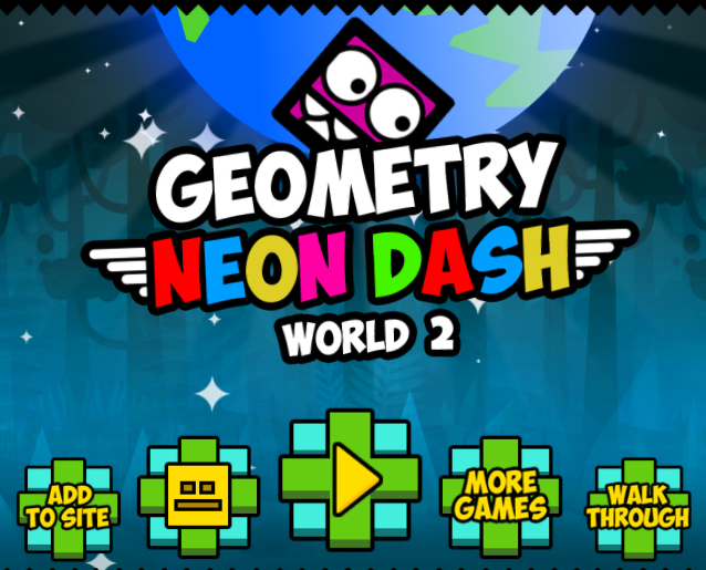 Play Geometry Neon Dash World 2 Game